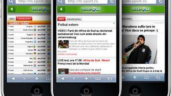 www.sport.ro a lansat versiunea MOBIL! Rezultate LIVE de la Mondial, grupele si ultimele stiri pe M.SPORT.RO