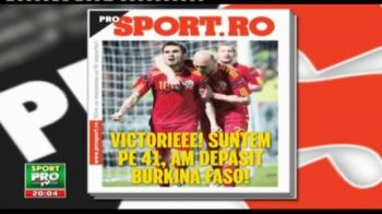 Citeste joi in ProSport: pe ce loc a urcat Romania dupa ce a batut Luxemburg si care sunt primele 2 transferuri ale Timisoarei
