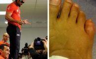 Haye a facut SHOW la conferinta de dupa meci! S-a urcat pe masa si a aratat degetul umflat! Vezi ce i-a transmis lui Klitschko!