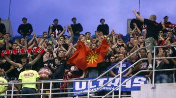 Ce nu s-a vazut la TV! Fanii lui Vardar au facut un scandal MONSTRU inaintea meciului cu Steaua si s-au batut cu politia! VIDEO: