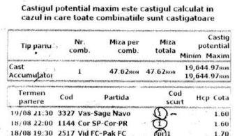 Lovitura BOMBA cu 50 de lei! Un ROMAN s-a UMPLUT DE BANI cu un bilet perfect la pariuri! Vezi cum arata: FOTO