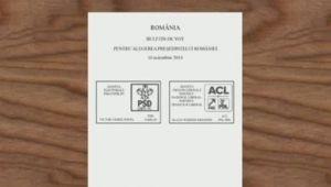 Ce a SCRIS un roman pe buletinul de vot!