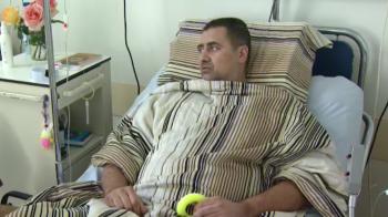 """VIDEO emotionant cu Dedu pe patul de spital: """"Vreau sa pun piciorul pe pamant, Doamne, abia astept sa curga dusul pe mine"""""""