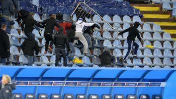 Scene de groaza in Europa! Fanii au rupt gardurile ca sa se bata intre ei, arbitrul a oprit meciul! VIDEO