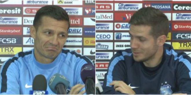 Faza GENIALA la conferinta! :)) Chipciu spunea ca vrea sa joace, reactia lui Galca l-a lasat fara cuvinte:  Doamne-fereste!  VIDEO