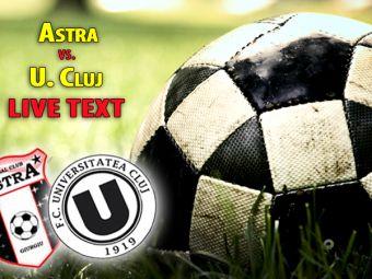 ACUM: Astra 1-1 U Cluj! Clujenii ies de la retrogradare cu o victorie la Giurgiu! Lemnaru egaleaza din penalty