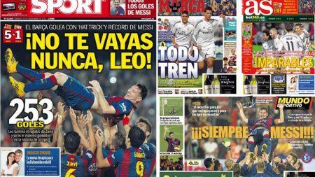 VIDEO Reactia emotionanta a lui Messi dupa ce a batut recordul de goluri in Spania! Sport Catalunya:  Sa nu pleci niciodata, Leo!