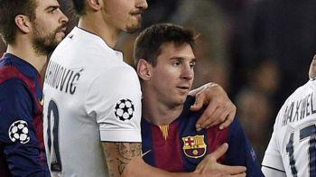 FOTO Messi si Ibrahimovic s-au impacat! Declaratia cu care Zlatan a surprins dupa infrangerea cu Barcelona