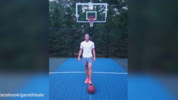 Schema SENZATIONALA a lui Gareth Bale cu care a devenit viral pe internet! Ce face cu o minge de baschet. VIDEO