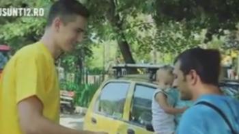 Video EPIC! Gardos a iesit pe strada in Bucuresti si a facut un gest SENZATIONAL. Clip UNIC in Romania