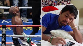 VIDEO | Ultima aroganta a lui Pacquiao la adresa lui Mayweather! Ce facea filipinezul in timp ce rivalul sau lupta pentru ultima oara in ringul de box