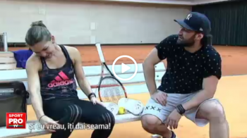 """SUPER VIDEO   Smiley si Simona Halep s-au intalnit pe terenul de tenis! Smiley: """"Vei fi numarul 1"""". Ce i-a raspuns Simona"""