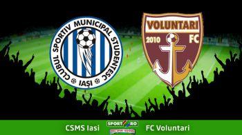 Se duc VOLUNTARI spre Liga a II-a: CSMS Iasi 2-1 Voluntari | Vezi aici fazele etapei din Liga I