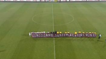 Steaua nu le-a luat doar stadionul. Ce banner au folosit stelistii pentru a transmite un mesaj victimelor din Colectiv. FOTO