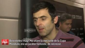 """""""Nu eu sunt geniul, Hagi e"""". Declaratie fantastica a celui mai tare jucator de snooker la sosirea in Romania. O'Sullivan - Bingham e duminica la Sport.ro, de la 20:00"""