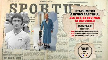 Lita Dumitru a invins cancerul, ajuta-l sa invinga datoriile! Unul dintre cei mai mari fotbalisti din istoria Romaniei are nevoie de ajutor, iar Florin Gardos a demarat o campanie
