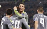 Seara de 2 solist in Champions League. Ronaldo a marcat in Roma 0-2 Real Madrid. Gent, aproape de revenire in 2-3 cu Wolfsburg. REZUMATELE VIDEO