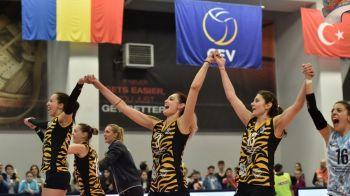 ISTORIE IN VOLEI! CSM Bucuresti a cucerit Cupa Challenge, primul trofeul european al Romaniei la volei