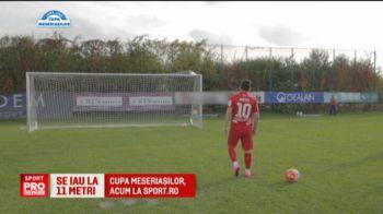 Finalistele Cupei, Dinamo si CFR, sunt cele mai tari la loviturile de la 11 metri. Fotbalistii celor doua echipe s-au dat in spectacol la Cupa Meseriasilor