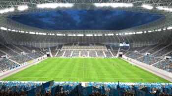 """FOTO Imagini 3D cu noul stadion al Craiovei! Cum va arata in interior """"VULCANUL alb-albastru"""""""