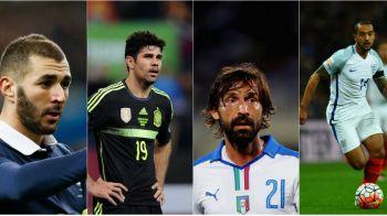 25 de nume uriase care vor vedea EURO la televizor: de la Pirlo si Balotelli pana la Torres si Mata. Cine lipseste din nationalele Italiei, Spaniei, Germaniei, Frantei ori Angliei