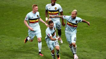 Belgia face SCORUL TURNEULUI FINAL si ajunge in sferturile Euro 2016, unde da peste Tara Galilor: Ungaria 0-4 Belgia. Vezi rezumatul