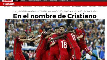 Moment GENIAL dezvaluit de Eder! Ce i-a spus Cristiano Ronaldo inainte de prelungiri. Ce scriu marile publicatii de sport din Europa dupa victoria istorica a Portugaliei