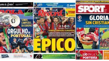 """Victoria Portugaliei in cele mai importante ziare de sport. AS de Madrid saluta succesul, ziarul """"de casa"""" al Barcei evidentiaza: Glorie FARA RONALDO"""""""