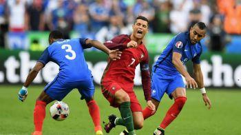 """Reactia lui Payet dupa ce l-a """"rupt"""" pe Ronaldo in finala EURO. Ce a spus francezul despre lovitura aplicata vedetei lui Real"""