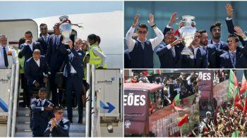 A venit Cupaaaaa   Cristiano Ronaldo & Co s-au intors acasa si vor defila cu trofeul prin capitala, pana la Palatul Prezidential. Mii de fani sunt asteptati pe traseu