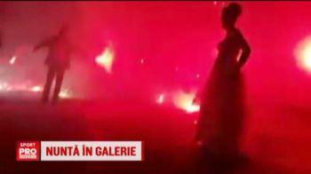 Nunta ULTRAS in Romania! Ce surpriza au avut acesti miri din Ploiesti la petrecere