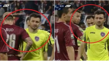 Incident oribil petrecut la meciul CFR - ASA, disputat aseara. Bud si Surdu au continuat razboiul pornit in Moldova, atacantul CFR-ului si-a scuipat fostul coleg