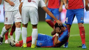 'Nu-si poate misca maxilarul, poate fi ceva grav pentru el!' Steaua si-a pierdut JOKER-ul dupa meciul cu CFR. Anuntul lui Reghe