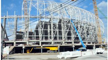 FOTO: Ultimele imagini cu noua arena a Craiovei, stadionul a prins contur! Mititelu e convins ca stadionul se construieste pentru el :)