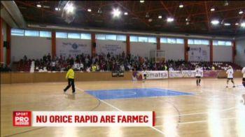 Rapid a fost parasita si de galerie! Suporterii au ales sa mearga sa sustina fetele de la handbal. VIDEO