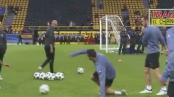 VIDEO! Cristiano Ronaldo si-a iesit din minti la antrenamentul Realului inaintea meciului cu Dortmund, azi, 21:45, la ProTV! Ce a facut