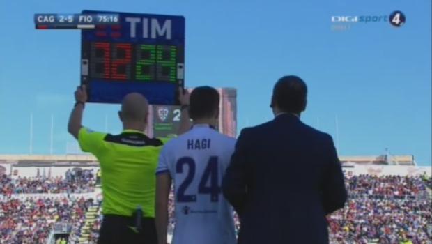 Moment urias: Ianis Hagi A DEBUTAT in Serie A, la o zi dupa ce a implinit 18 ani. Hagi Jr, trimis pe teren in repriza a doua a meciului Cagliari - Fiorentina