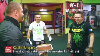 "Morosanu a dat buzna in sala de lupte...cu un tort! Cum si-a sarbatorit antrenorul: ""Este ca un tata spiritual pentru mine"". VIDEO"