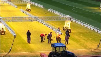 Masuri de urgenta pentru derby! Gazonul de pe National Arena a intrat in reparatii cu 48 de ore inainte de Dinamo - Steaua FOTO