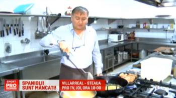 """Un roman din Spania a pregatit sarmalele si palinca pentru stelisti: """"Asteptam sa vina si sa o bata pe Villarreal"""". Meciul e joi, 18:00, la ProTV"""