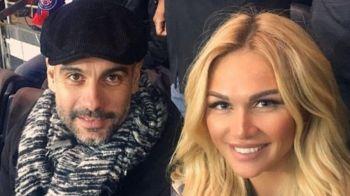 Blonda SUPERBA cu care Pep a fost vazut in tribune la PSG - Monaco. Cine e femeia care a atras atentia tuturor