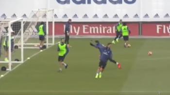 "Acelasi Cristiano. Ronaldo celebreaza pana si golurile de la antrenament cu ""Siiiuuuuuuu"". Cum a marcat :)"