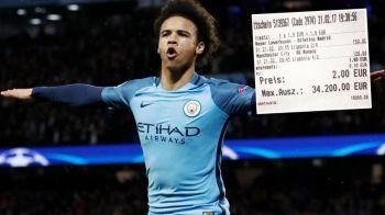 Ghinionistul saptamanii: a pierdut 34.200 € din cauza golului lui Sane! Ce mesaj a postat fotbalistul cand a aflat :)