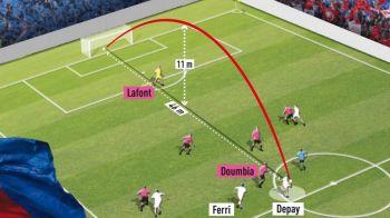 VIDEO SENZATIONAL! Depay a reusit golul ANULUI in Franta! Sut absolut fantastic de la 46 metri