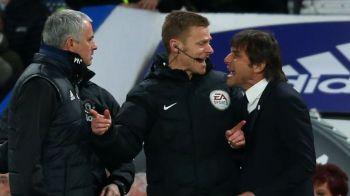 Mourinho si-a pierdut mintile pe banca! Gestul facut fata de Conte in timpul meciului cu Chelsea. VIDEO