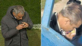 """""""Tata"""" Mou! Antrenorul lui Manchester United si-a pupat amuleta ca Iordanescu inainte de golul victoriei. FOTO"""