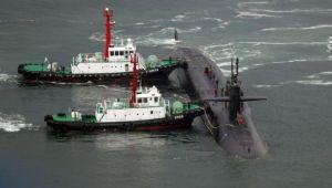 FOTO Un submarin nuclear al SUA a ajuns in Peninsula Coreea