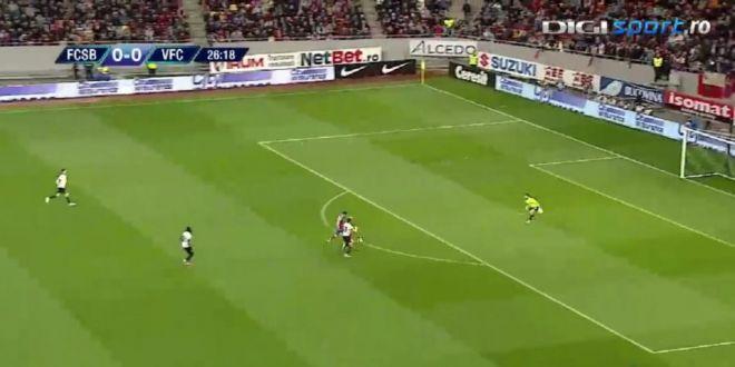 VIDEO Ratare imensa a  fotbalistului anti-gol  in derby-ul FCSB - Viitorul.  E exact ca Tade, nu marcheaza!