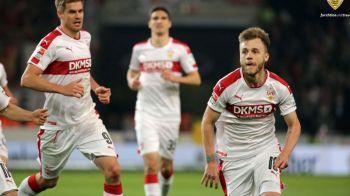 """""""MAXIIIIIIIM!"""" Golul FABULOS care o duce pe Stuttgart aproape de Bundesliga! Cum a inscris romanul"""