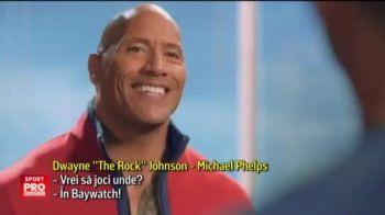 """VIDEO """"Asta nu e piscina de copii de la Rio!"""" Phelps a dat probe pentru Baywatch! Cum l-a chinuit The Rock"""